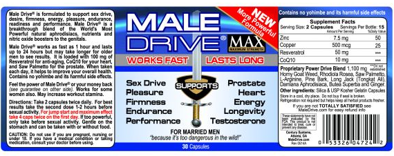 Male Drive a natural alternative